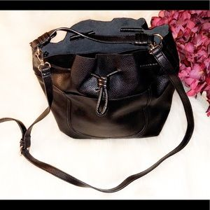 ZARA Vegan Leather Bucket Bag